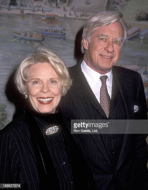 Director John Frankenheimer and wife Evans Evans attend the 71st Annual National Board of Review of Motion Pictures Awards on January 18 2000 at...