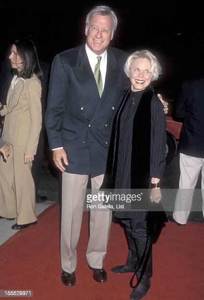 Director John Frankenheimer and wife Evans Evans attend the Ronin Beverly Hills Premiere on September 23 1998 at Academy Theatre in Beverly Hills...