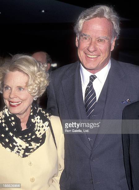 Director John Frankenheimer and wife Evans Evans attend the Screening of the TNT Original Movie Andersonville on February 28 1996 at The Museum of...
