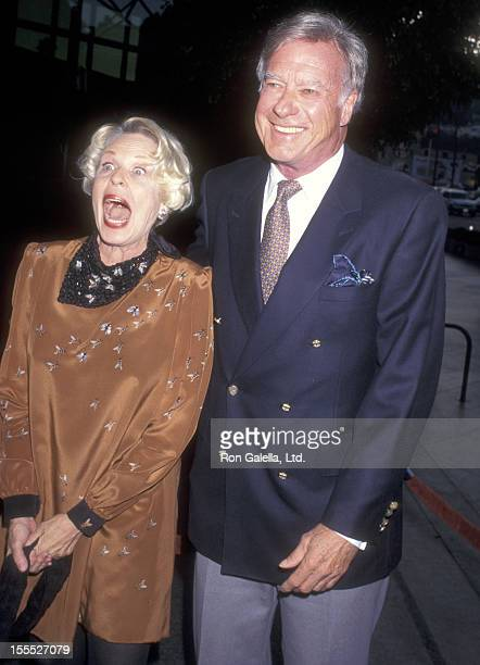 Director John Frankenheimer and wife Evans Evans attend the Screening of the TNT Miniseries George Wallace on August 13 1997 at DGA Theatre in Los...
