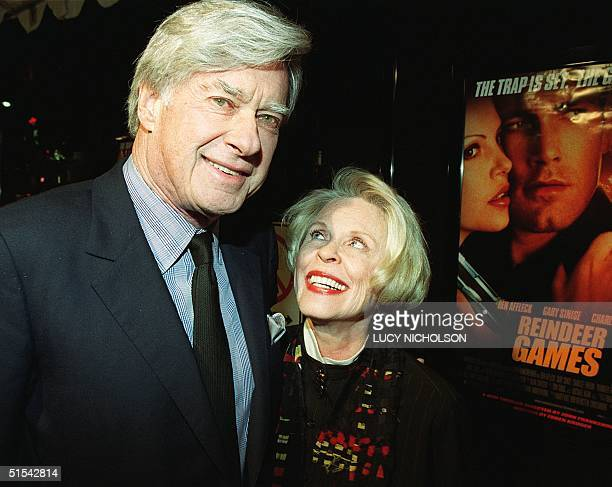 US director John Frankenheimer arrives at the premiere of his new film Reindeer Games with his wife actress Evans Evans in Hollywood CA 21 February...
