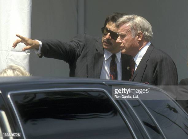 Director John Frankenheimer attends Frank Sinatra's Funeral Service on May 20 1998 at the Good Shepherd Catholic Church in Beverly Hills California