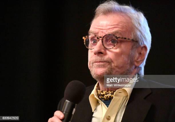 Director John G Avildsen speaks onstage at a screening of 'John G Avildsen King of the Underdogs' during the 32nd Santa Barbara International Film...