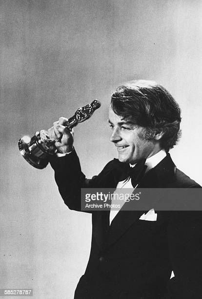Director John G Avildson with his Oscar for the film 'Rocky' at the 49th Academy Awards Los Angeles March 28th 1977