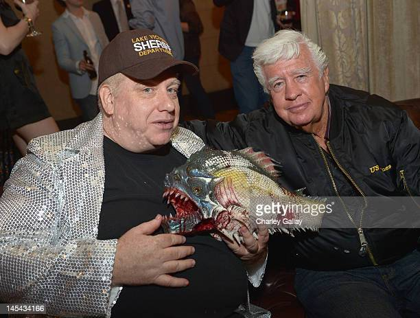 """Director John Gulager and actor Clu Gulager attend the """"Pirahna 3DD"""" premiere after party at Roosevelt Hotel on May 29, 2012 in Los Angeles,..."""