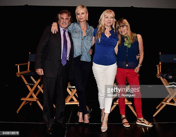 Director John Herzfeld actors Charlize Theron Glenne Headly and production designer Catherine Hardwicke attend a reunion for 'Two Days In The Valley'...