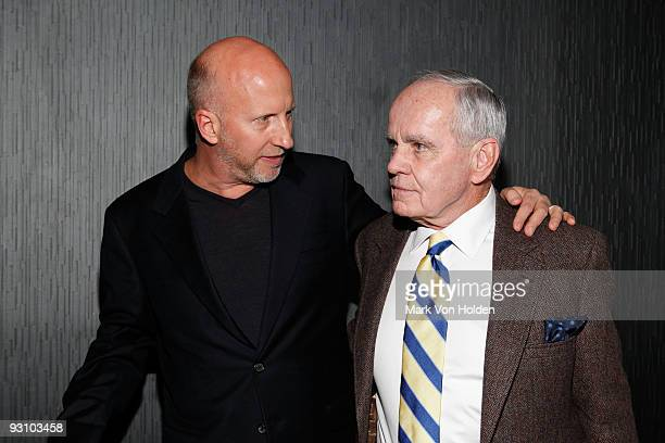"""Director John Hillcoat and writer Cormac McCarthy attend the after party for the New York premiere of Dimension Films' """"The Road"""" at SL on November..."""
