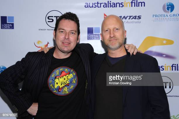 Director John Hillcoat and writer Joe Penhall attend the Australians In Film Screening Of 'The Road' at the Harmony Gold Theatre on November 10, 2009...