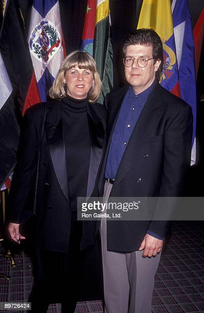 Director John Hughes and wife Nancy Ludwig attend ShoWest '91 Convention on February 7 1991 at Bally's Hotel and Casino in Las Vegas Nevada