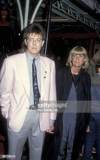 Director John Hughes and wife Nancy Ludwig attend the premiere of Pretty In Pink on January 29 1986 at Mann Chinese Theater in Hollywood California