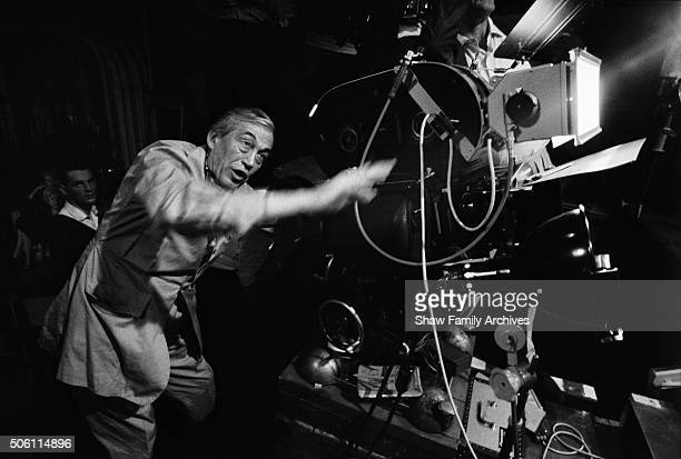 Director John Huston behind the camera in 1967 during the filming of 'Casino Royale' in London United Kingdom