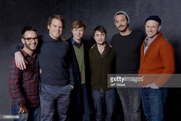 Director John Krokidas actors Michael C Hall Dane DeHaan Daniel Radcliffe Jack Houston and Ben Foster pose for a portrait during the 2013 Sundance...