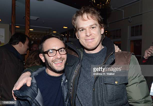 Director John Krokidas and actor Michael C Hall attend Stella Artois press dinner for the film Kill Your Darlings at Village at the Lift on January...