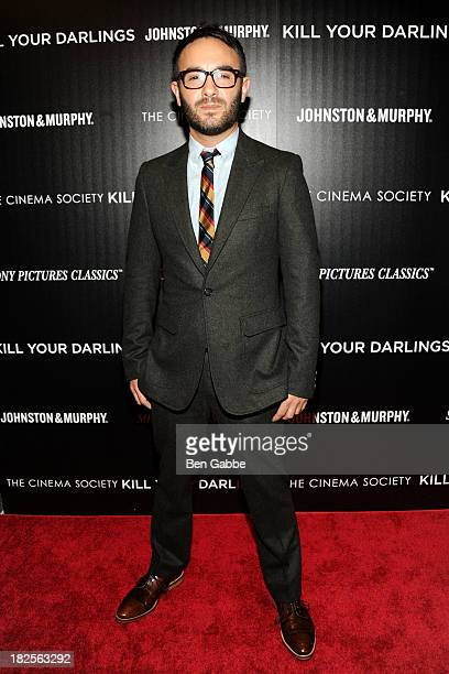"""Director John Krokidas attends The Cinema Society and Johnston & Murphy host a screening of Sony Pictures Classics' """"Kill Your Darlings"""" at the Paris..."""