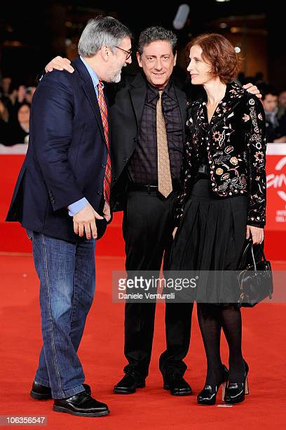 """Director John Landis, President of the Jury Sergio Castellitto and Margaret Mazzantini attend the """"Burke & Hare"""" Premiere during the 5th..."""