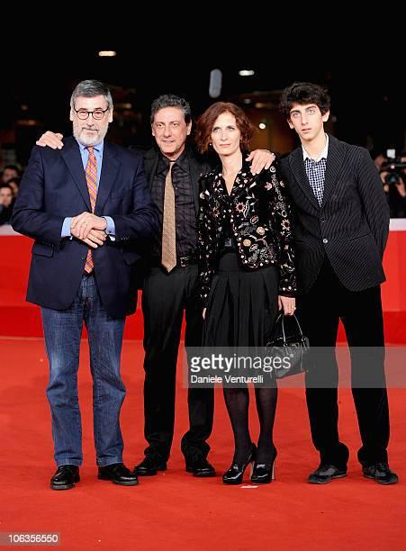 "Director John Landis, President of the Jury Sergio Castellitto, Margaret Mazzantini and Pietro Castellitto attend the ""Burke & Hare"" Premiere during..."