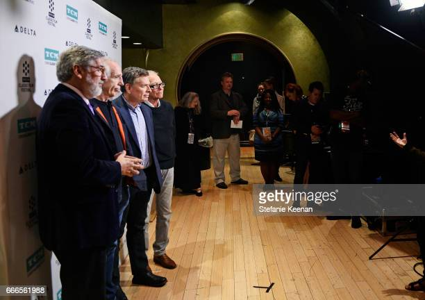 Director John Landis producer Jerry Zucker and directors David Zucker and Jim Abrahams attend the screening of 'The Kentucky Fried Movie' during the...