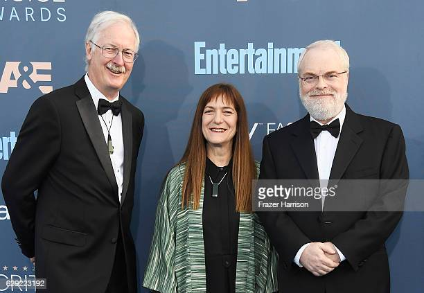 Director John Musker producer Osnat Shure and director Ron Clements attend The 22nd Annual Critics' Choice Awards at Barker Hangar on December 11...