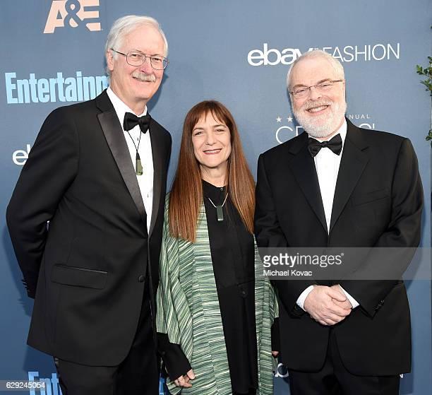 Director John Musker producer Osnat Shurer and director Ron Clements attend The 22nd Annual Critics' Choice Awards at Barker Hangar on December 11...