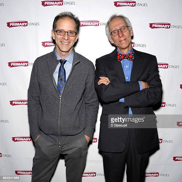 Director John Rando and playwright David Ives attend the 'Lives Of The Saints' opening night afterparty at Tir Na Nog on February 24 2015 in New York...