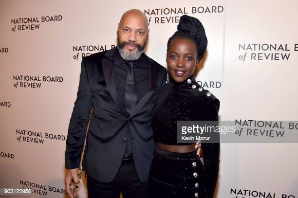 Director John Ridley and Actor Lupita Nyong'o attend the National Board of Review Annual Awards Gala at Cipriani 42nd Street on January 9 2018 in New...