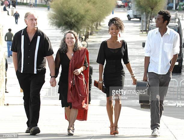 Director John Sayles, producer Maggie Renzi, actress Yaya DaCosta and actor Gary Clark Jr. Attend a photocall for Honeydripper at the Kursaal Palace...