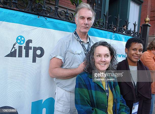 Director John Sayles, Producer Maggie Renzi, and IFP Executive Director Michelle Byrd speaking at the IFP Master Class and Conference Panel at The...
