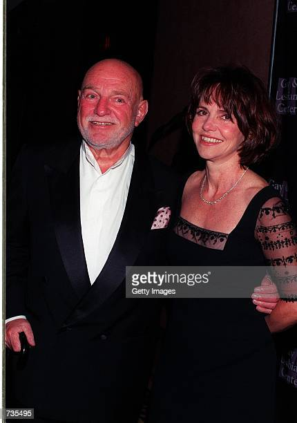 Director John Schlesinger poses with actress Sally Field at the LA Gay Lesbian Center's 29th Anniversary Ball November 11 2000 in Los Angeles CA...