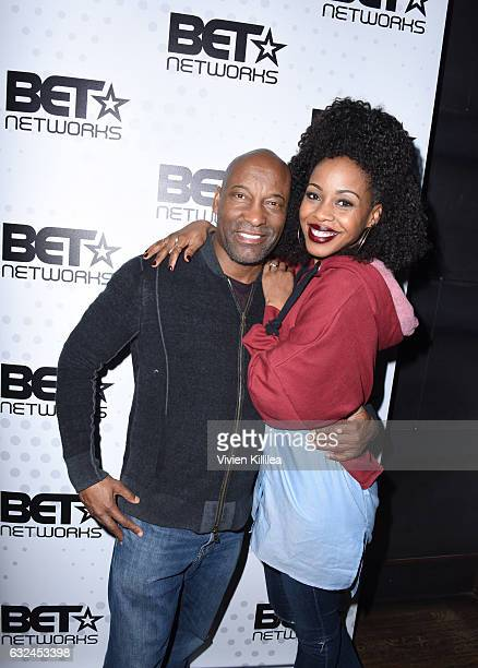 Director John Singleton and actress Danielle Mone Truitt attend the BET Hosted Reception at Riverhorse On Main on January 22 2017 in Park City Utah