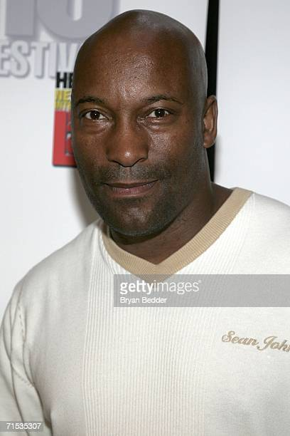 Director John Singleton arrives at the panel discussion for the making of Illegal Tender produced by Singleton during the New York International...