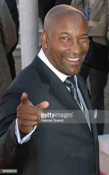 US director John Singleton arrives at the premiere for Four Brothers at the 31st Deauville Festival Of American Film on September 10 2005 in...