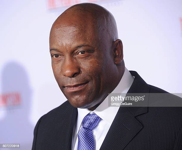 Director John Singleton arrives at the premiere of FX's American Crime Story The People V OJ Simpson at Westwood Village Theatre on January 27 2016...