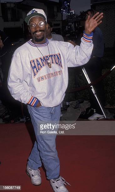 Director John Singleton attending the premiere of 'Lethal Weapon 3' on May 11 1992 at Mann Village Theater in Westwood California