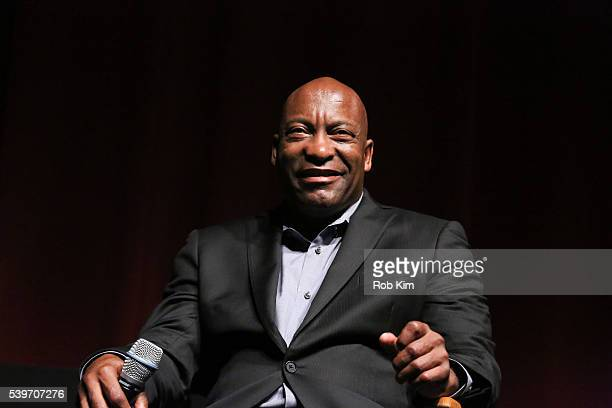 Director John Singleton attends a discussion at the Spotlight On Screenwriting Boyz n the Hood 25th Anniversary Screening With John Singleton And...