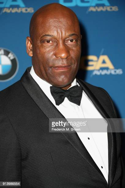 Director John Singleton poses in the press room during the 70th Annual Directors Guild Of America Awards at The Beverly Hilton Hotel on February 3...