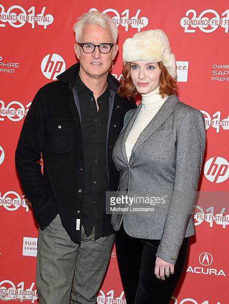 Director John Slattery and actress Christina Hendricks attend the God's Pocket premiere at Eccles Center Theatre during the 2014 Sundance Film...