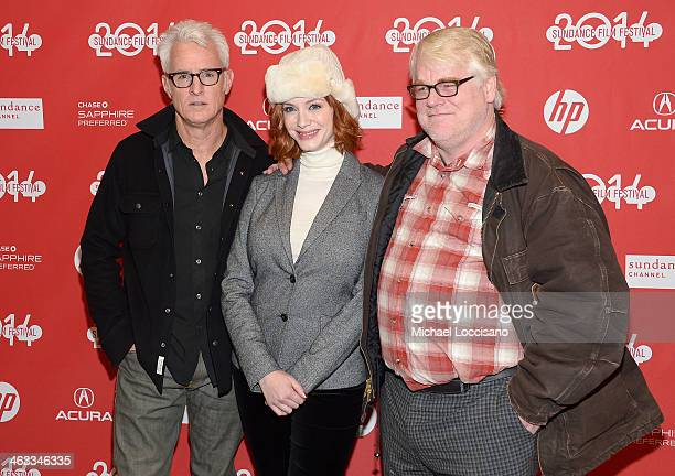 Director John Slattery Christina Hendricks and Philip Seymour Hoffman attend the God's Pocket premiere at Eccles Center Theatre during the 2014...