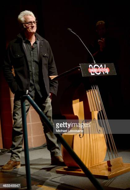 Director John Slattery speaks at the God's Pocket premiere at Eccles Center Theatre during the 2014 Sundance Film Festival on January 17 2014 in Park...