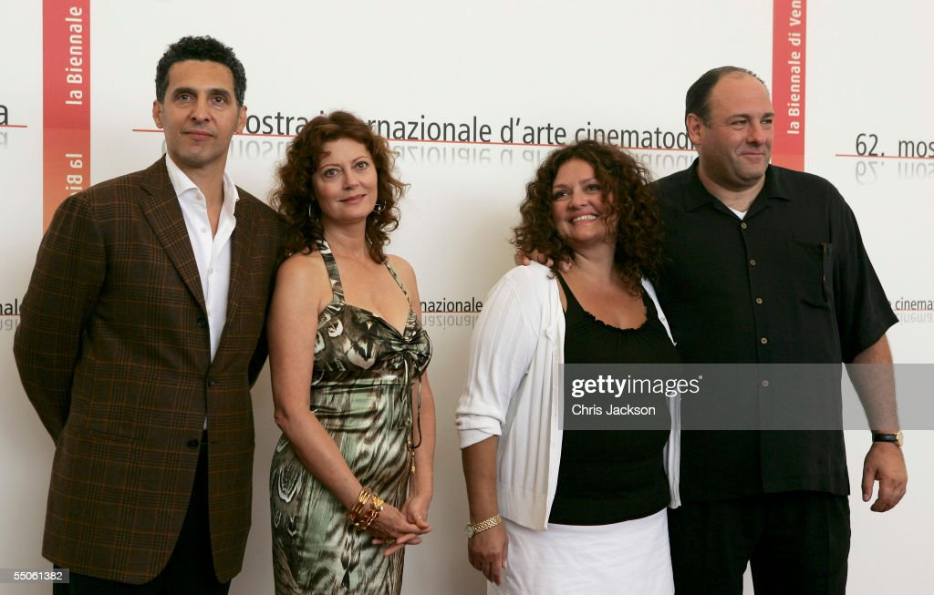 Director John Turturro and actors Susan Sarandon, Aida Turturro and James Gandolfini pose at the photocall for the in competition film 'Romance And Cigarettes' on the seventh day of the 62nd Venice Film Festival on September 6, 2005 in Venice, Italy.
