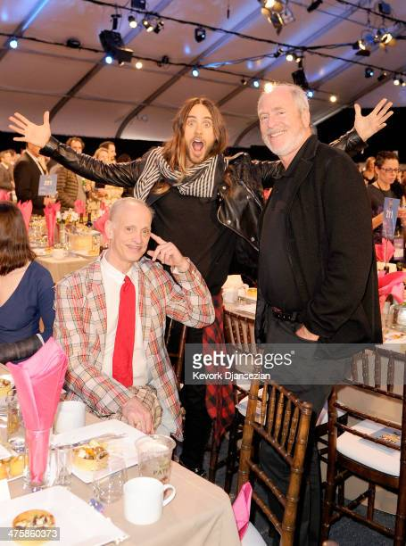 Director John Waters actor Jared Leto and photographer Greg Gorman in the audience during the 2014 Film Independent Spirit Awards at Santa Monica...