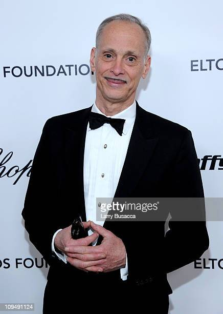 Director John Waters arrives at the 19th Annual Elton John AIDS Foundation Academy Awards Viewing Party at the Pacific Design Center on February 27...