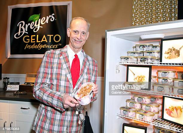 Director John Waters attends Breyers Gelato Indulgences in the On3 Official Presenter Gift Lounge during the 2014 Film Independent Spirit Awards at...