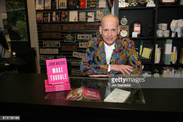 Director John Waters poses for a portrait at his book signing for his book Make Trouble at Book Soup in Los Angeles California on April 25 2017