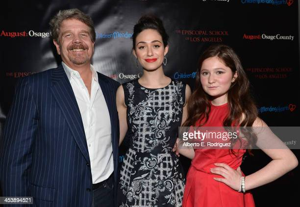 Director John Wells actors Emmy Rossum and Emma Kenney attend The Weinstein Company's screening of August Osage County benefitting Children Mending...