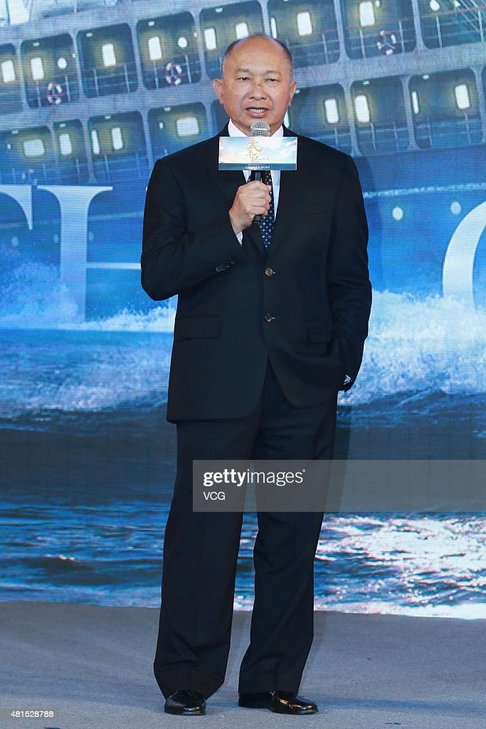 Director John Woo attends 'The Crossing Part 2' press conference on July 22, 2015 in Beijing, China.