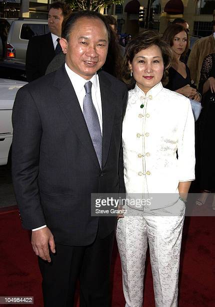 Director John Woo wife during Windtalkers Premiere at Grauman's Chinese Theatre in Hollywood California United States