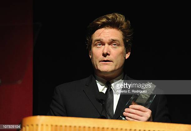 Director Johnny O'Hara speaks at the International Documentary Association's 26th annual awards ceremony at the Directors Guild Of America on...