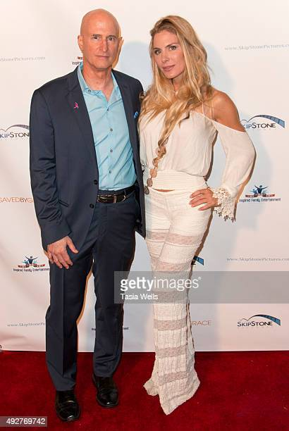 """Director Johnny Remo and actress Kelly Greyson arrives at Skipstone Pictures' """"Saved By Grace"""" - Arrivals at Raleigh Studios on October 14, 2015 in..."""
