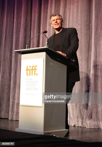 Director Jon Ameil speaks on stage as she attends the 'Creation' premiere at the Roy Thomson Hall during the 2009 Toronto International Film Festival...