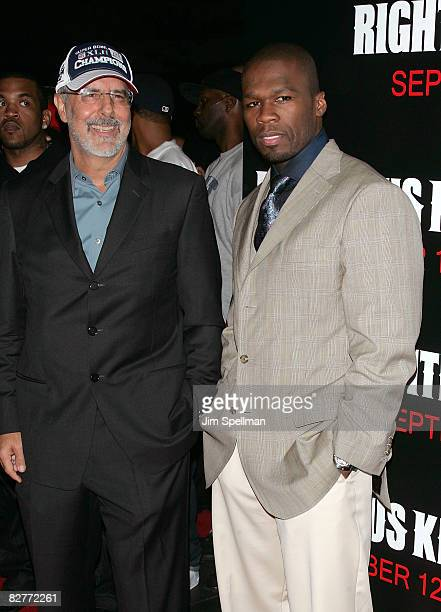 Director Jon Avnet and Curtis '50 Cent' Jackson attends the New York premiere of 'Righteous Kill' at the Ziegfeld Theater on September 10 2008 in New...